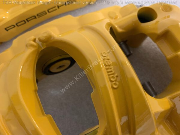 Porsche 991 GT3 GT3RS GT2RS 918 Ceramic Calipers Front Brembo NEW-15