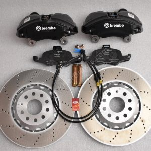 Audi TTS 8S 4Pot Brake kit Upgrade ClubSport brake discs NEW Black Brembo Decal