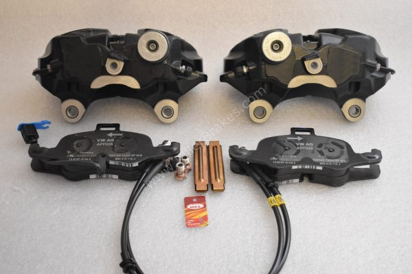 Golf 7 7.5 R 4Pot Calipers brake upgrade Audi TTS 2018 NEW Black-9