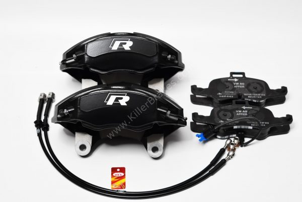 Golf 7R 4Pot Calipers brake upgrade Audi TTS 2018 NEW Black