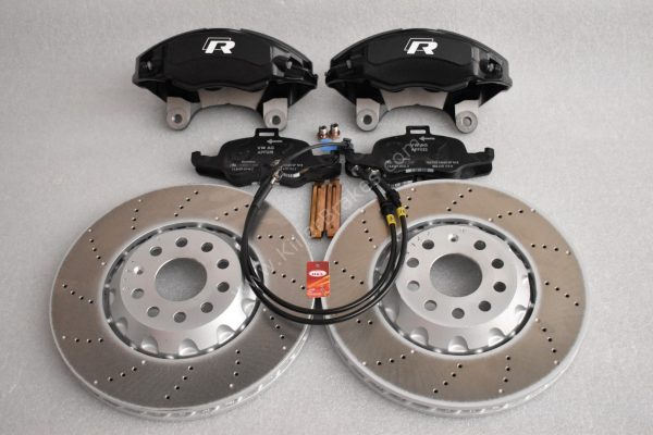 Golf 7R 7.5R 6 R20 4Pot Brake kit Upgrade ClubSport Audi TTS 8S NEW Black