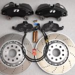 Golf 7R 7.5R 6 R20 4Pot Brake kit Upgrade ClubSport Audi TTS 8S NEW Black-13