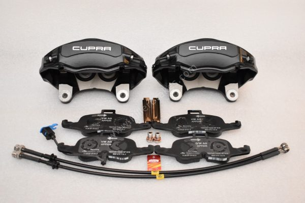 Seat Leon Cupra 5F 4Pot Calipers brake upgrade Audi TTS 2018 NEW Black-15