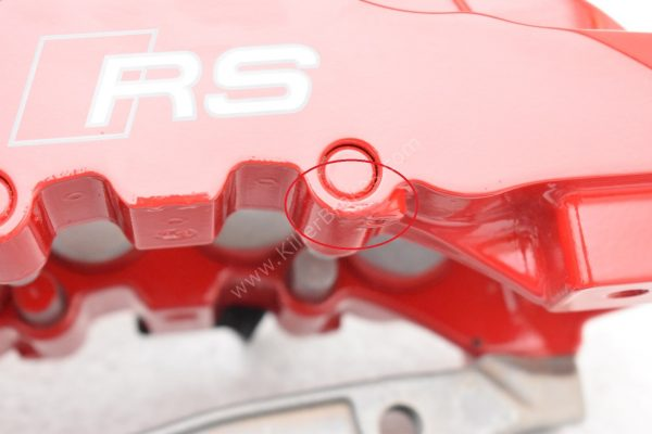 Audi RS Full Big brake upgrade Brembo 8 Pot Calipers 365x34mm Wave Brake discs Brand NEW Red small signs-1