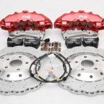 Audi RS Full Big brake upgrade Brembo 8 Pot Calipers 365x34mm Wave Brake discs Brand NEW Red small signs-10