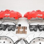 Audi RS Full Big brake upgrade Brembo 8 Pot Calipers 365x34mm Wave Brake discs Brand NEW Red small signs-12