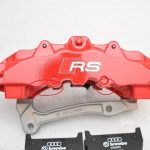 Audi RS Full Big brake upgrade Brembo 8 Pot Calipers 365x34mm Wave Brake discs Brand NEW Red small signs-14