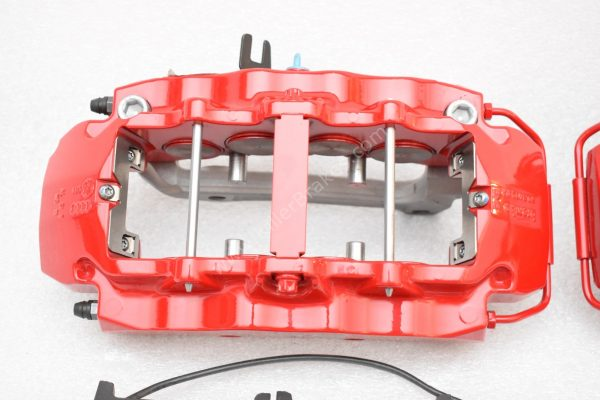 Audi RS Full Big brake upgrade Brembo 8 Pot Calipers 365x34mm Wave Brake discs Brand NEW Red small signs-3
