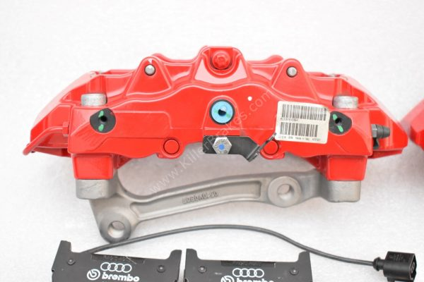 Audi RS Full Big brake upgrade Brembo 8 Pot Calipers 365x34mm Wave Brake discs Brand NEW Red small signs-4
