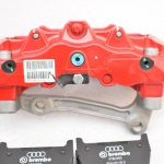 Audi RS Full Big brake upgrade Brembo 8 Pot Calipers 365x34mm Wave Brake discs Brand NEW Red small signs-5