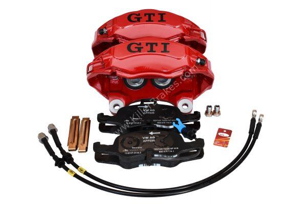 Vw Golf 7 4Pot Calipers brake upgrade Audi TTS 2018 NEW Red Gti Logo Golf 5 6 Gti