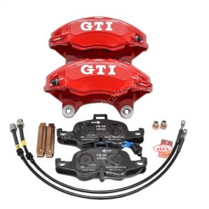 Vw Golf 7 4Pot Calipers brake upgrade Audi TTS 2018 NEW Red Gti Logo Golf 5 6 Gti