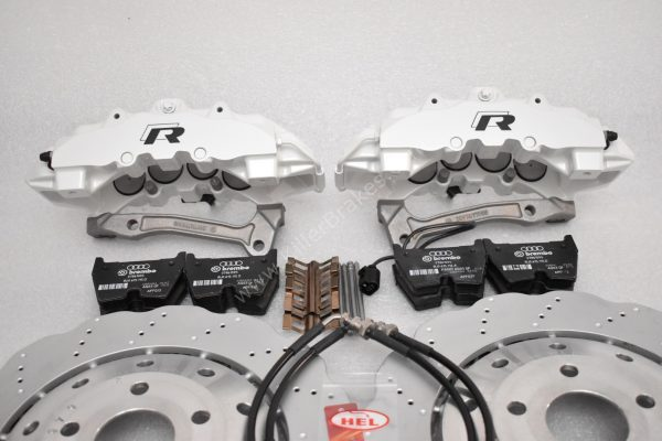 Audi RS Full Big brake upgrade Brembo 8Pot Calipers 365mm Wave Brake discs Brand NEW Oryx White