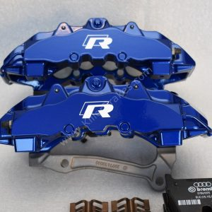 Audi RSQ3 Brembo 8Pot Calipers 8U0615107 8U0615108 20.7675.02 brackets pads pins NEW Color Lapiz Blue