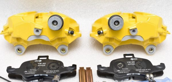 Audi S3 8p 8v 4Pot Calipers brake upgrade Audi TTS 2018 NEW Yellow S3 logo