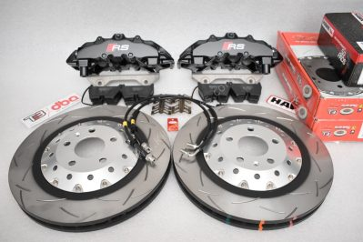 Audi Rs4 RS5 R8 Big brake kit upgrade Brembo 8Pot DBA 2-piece brake discs Hawk Perfomance
