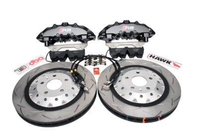 Audi Rs4 RS5 R8 Big brake kit upgrade Brembo 8Pot DBA 2-piece brake discs Hawk Perfomance
