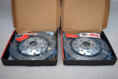 Audi Rs4 RS5 R8 Brake Discs DBA 52834SLVS 365x34mm- 5000 series Fully Assembled 2-Piece Clear Anodised T3