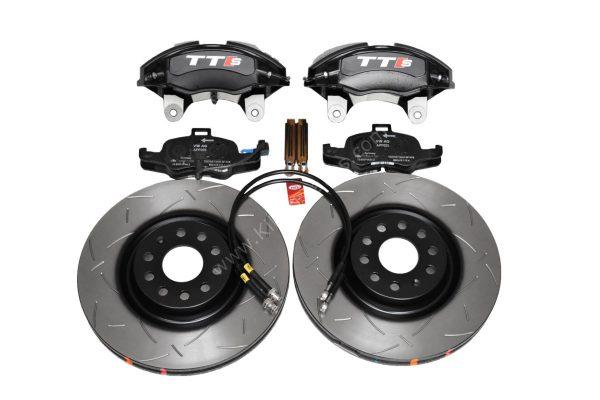 Audi TTS 8S 4Pot Brake kit Upgrade DBA 42830S T3 Slotted brake discs NEW