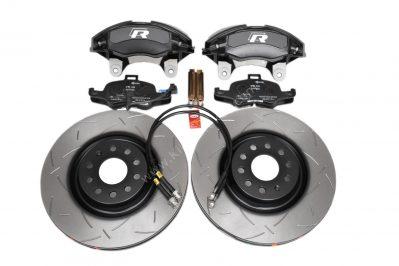 Golf 7R 7.5R 6 R20 4Pot Brake kit Upgrade DBA 42830S T3 Slotted brake discs Audi TTS 8S NEW Black