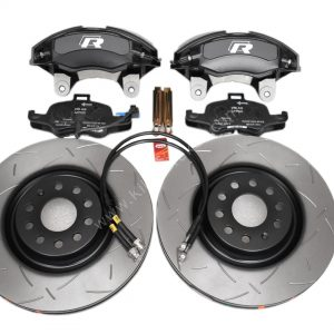Golf 7R 7.5R 6 R20 4Pot Brake kit Upgrade DBA 42830S T3 Slotted brake discs Audi TTS 8S NEW Black