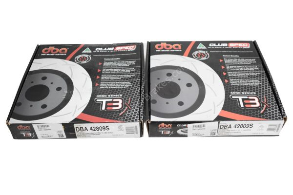 Rear DBA 42809S Brake Discs 310x22mm- 4000 series T3 Slotted New