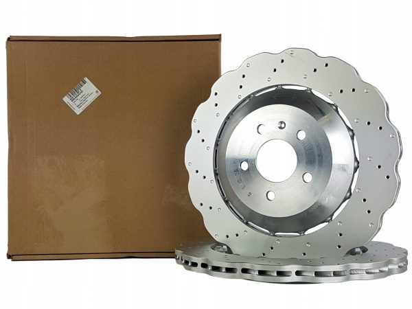 Rear Audi RS6 C7 Brake Discs 4G0615601E 356x22mm Wave NEW