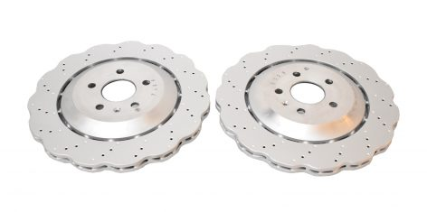 Rear Audi RS7 4G Brake Discs 4G8615601E 356x22mm Wave NEW