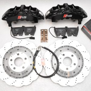 Audi Rs4 RS5 R8 Front Brembo 8Pot 365x34mm Wave brake discs Black