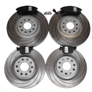 Front and Rear TAROX Audi S3 8v Mk7 R Cupra 5F Brake Upgrade Pack F2000 Brake discs Tarox Strada