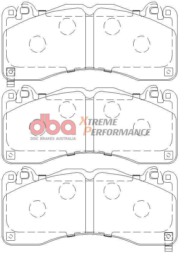 Front DBA Brake Pads DB9021XP Ford Mustang GT 5.0 Xtreme Performance