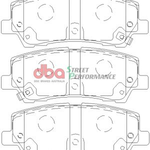 Ford Mustang GT 5.0 Rear Street Performance Brake Pads DB9022SP (Hawk: HB774X.650)
