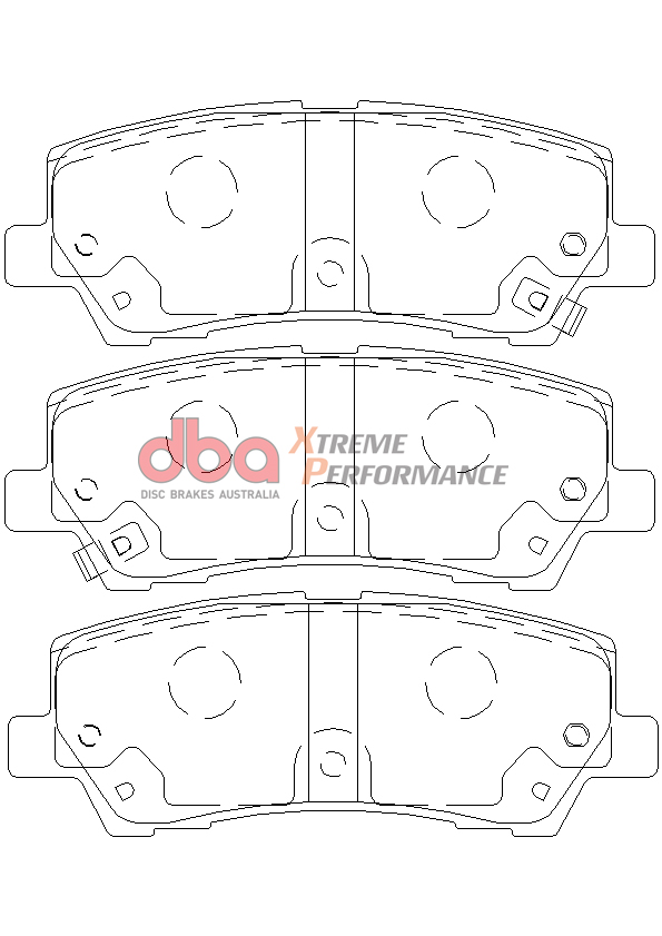 Rear Ford Mustang GT 5.0 DBA Xtreme Performance Brake Pads DB9022XP
