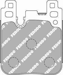 BMW Rear Ferodo Racing Brake Pads FCP4663H DS2500 2pot Brembo Calipers New