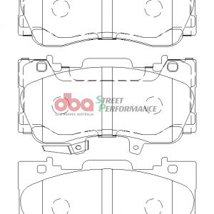 Rear DBA Brake Pads DB9022SP Ford Mustang GT 5.0 Street Performance