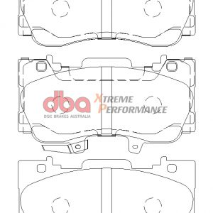 Rear Ford Mustang 2.3 Turbo DBA Brake Pads DB9022XP Xtreme Performance