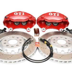 Golf 5 6 7 Gti 4Pot Brake kit Upgrade ClubSport brake discs NEW Red