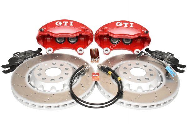 Golf 5 6 7 Gti 4Pot Brake kit Upgrade ClubSport brake discs NEW Red