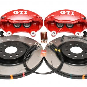 Golf 5 6 7 Gti 4Pot Brake kit Upgrade DBA 42830S T3 Slotted brake discs NEW