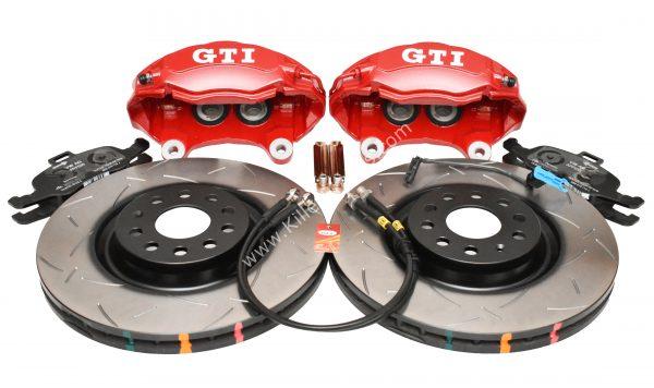 Golf 5 6 7 Gti 4Pot Brake kit Upgrade DBA 42830S T3 Slotted brake discs NEW