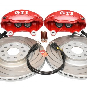 Golf 5 6 7 Gti 4Pot Brake kit Upgrade TAROX F2000 brake discs Tarox Strada Brake Pads NEW