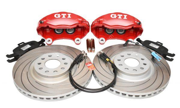 Golf 5 6 7 Gti 4Pot Brake kit Upgrade TAROX F2000 brake discs Tarox Strada Brake Pads NEW