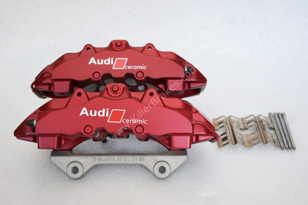 Audi Rs4 RS5 B8 R8 Brake Calipers Brembo 8Pot 20.7675.02 Red anodised New