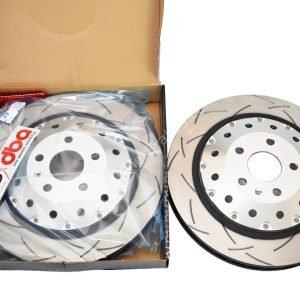 Audi Rs3 8v Sportback Brake Discs DBA 52844SLVS 370x34mm 5000 series Fully Assembled 2-Piece Clear Anodised T3
