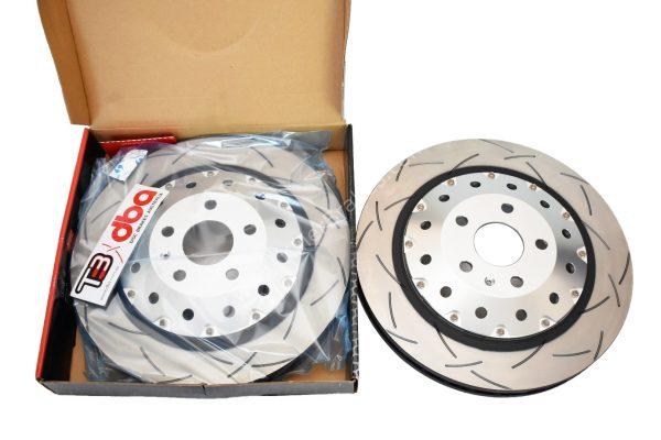 Audi Rs3 8v Sportback Brake Discs DBA 52844SLVS 370x34mm 5000 series Fully Assembled 2-Piece Clear Anodised T3