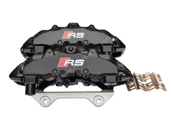 Front Audi Rs4 RS5 B8 R8 Brake Calipers 8T0615107D 8T0615108D Brembo 8Pot 20.7675.02 Black New