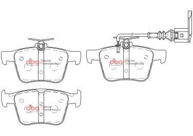 Audi RS3 TTRS Rsq3 Rear Brake Pads Xtreme Performance DBA Brake Pads DB15006XP