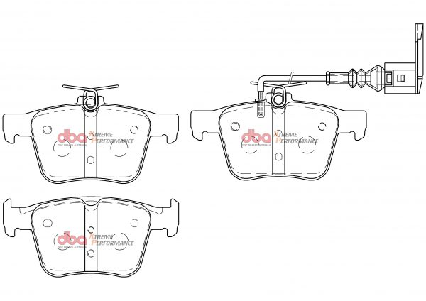 Audi RS3 TTRS Rsq3 Rear Brake Pads Xtreme Performance DBA Brake Pads DB15006XP