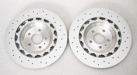 Audi TTRS 8S FL 8S0615301L Round Brake Discs 370x34mm NEW