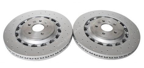 Front Audi TTRS 8S FL Brake Discs 8S0615301L 370x34mm Round NEW